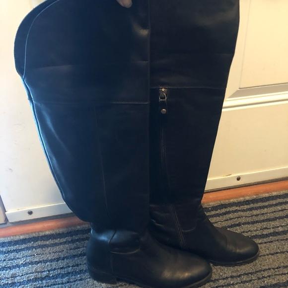 Italian leather boots knee high sz 38